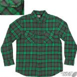 "CREATURE ""Hannibal"" Skateboard Long Sleeve Plaid Check Shirt  S M L XL Green"